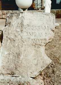 The Pilate Stone at Caesaria in Palestine
